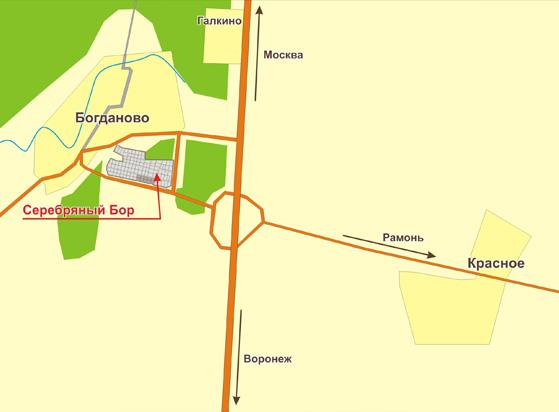 план коттеджного поселка серебряный бор